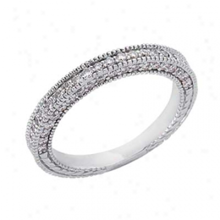 14k White 0.69 Ct Diamond Company Ring