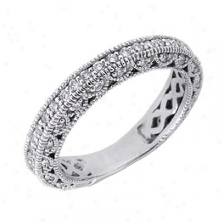 14k White 0.74 Ct Diamond Band Ring