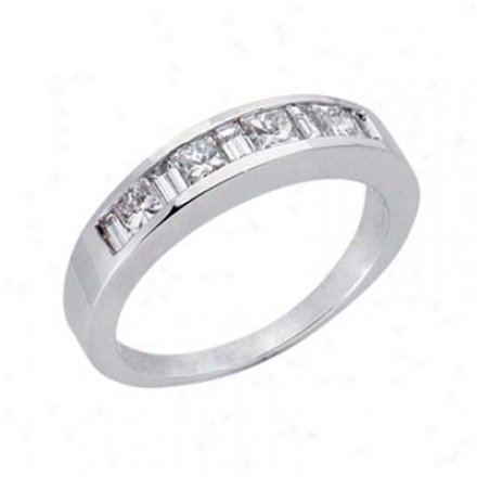 14k White 0.77 Ct Diamond Band Ring