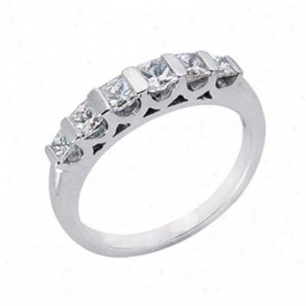 14k White 0.8 Ct Diamond Band Ring
