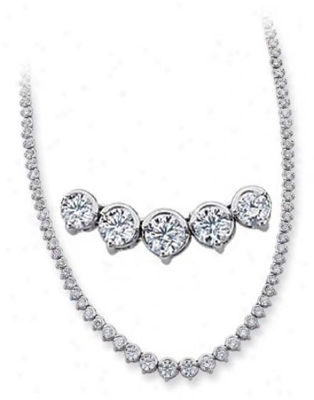 14k White 10.32 Ct iDamond Necklace