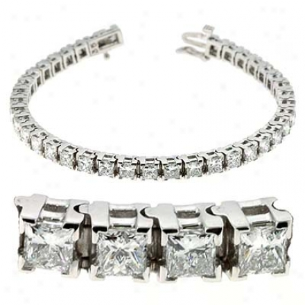14k White 10.83 Ct Diamond Bracelet