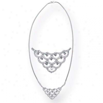 14k White 1.29 Ct Diamond N3cklace