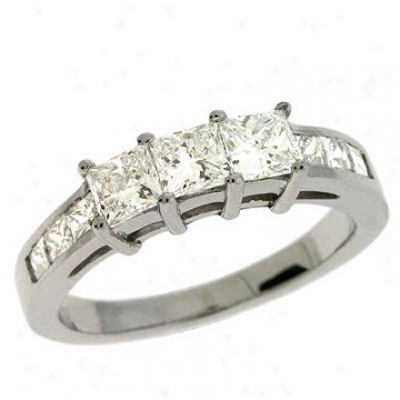 14k Of a ~ color 1.35 Ct Diamond Band Ring