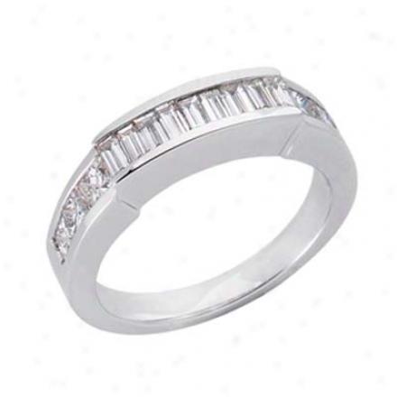 14k White 1.4 Ct Diamond Banc Ring