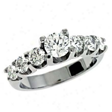 14k White 1.7 Ct Diamond Engaegment Ring