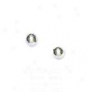 14k White 3 Mm Childrens Ball Post Stud Earrings