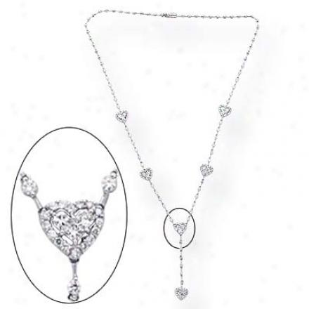 14k White 3.77 Ct Diamond Necklace