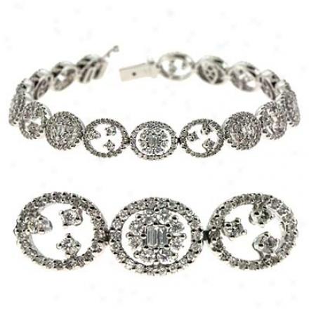 14k Pure 3.89 Ct Diamond Bracelet