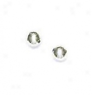 14k Pure 4 Mm Ball Friction-back Post Stud Earrings