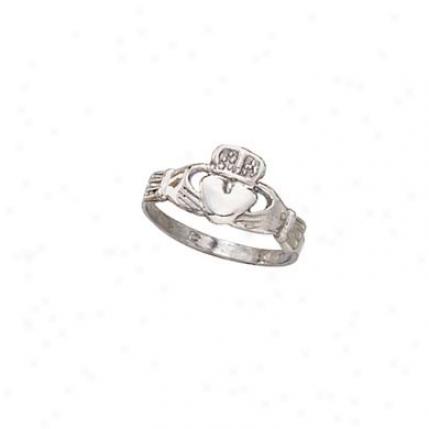 14k White Clzddagh Ring