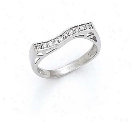 13k Pure Diamond Wave Ring