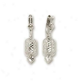 14k White Filagree Earrings