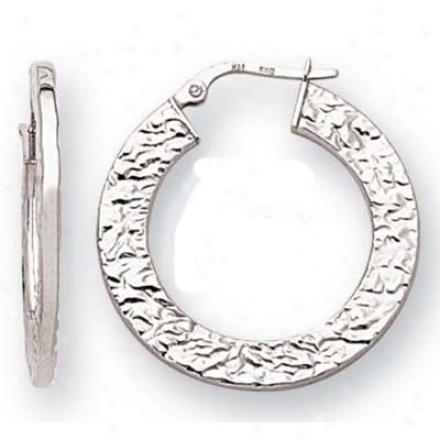 14k Pure Flat Hoop Earrings