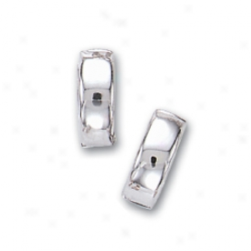 14k White Hinged Earrings