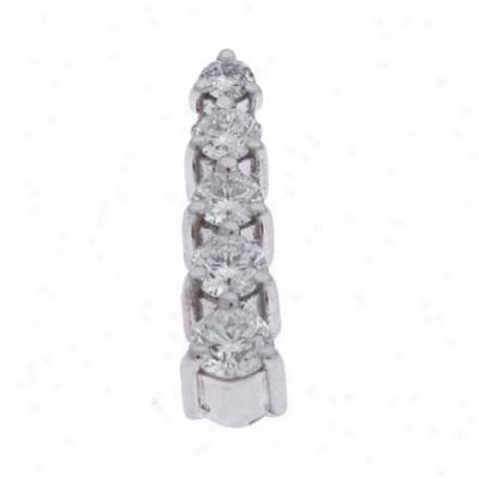 14k White Journey 0.5 Ct Diamond Pendant