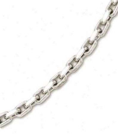 14k Pure Mens Bold Cable Link Necklace - 26 Inch