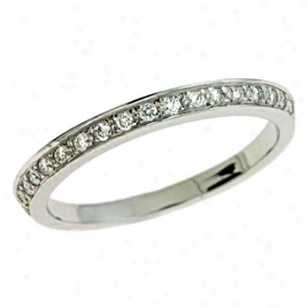 14k White Pave 0.17 Ct Diamond Company Resonance