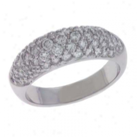 14k Of a ~ color Pave 1.22 Ct Diamond Band Ring
