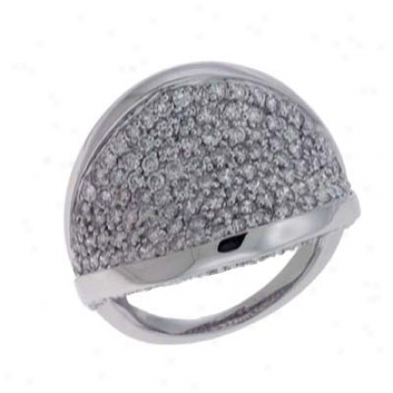 14k Whit3 Pave 1.79 Ct Diamond Band Ring