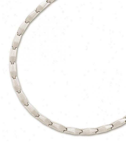 14k Pale Plain Stulish Necklace - 17 Inch
