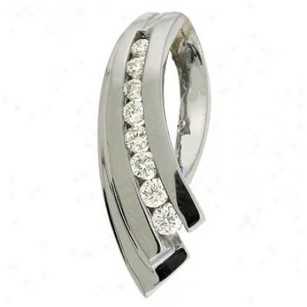 14k White Slide 0.2 Ct Diamond Chandelier