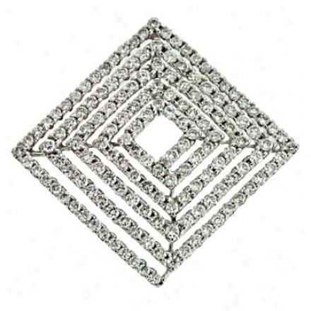 14k White Slide 1.53 Ct Diamond Pendant