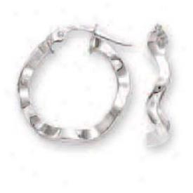 14k Pale Small Wavy Bind Earrings