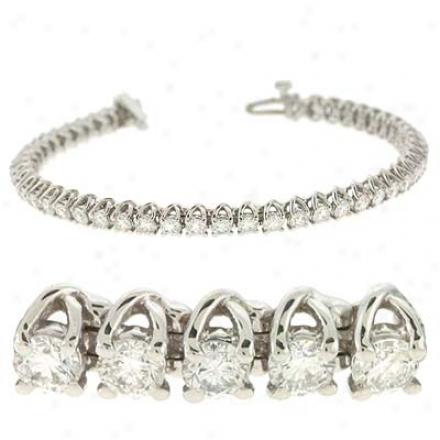 14k Of a ~ color Tennis 4 Ct Diamond Bracelet