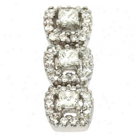 14k White Trendy 0.5 Ct Diamond Pendant