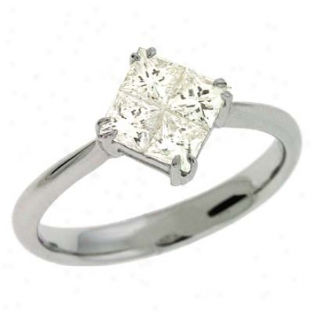 14k Happy Trendy 0.86 Ct Diamond Ring