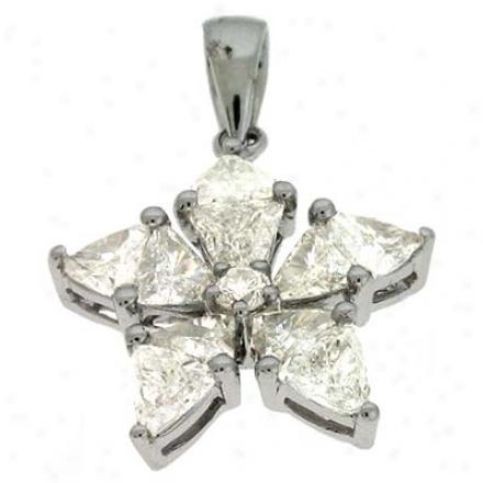 14k White Trendy 11.3 Ct Diamond Hanging appendage