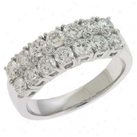 14k White Trendy 1.61 Ct Diamond Rinh