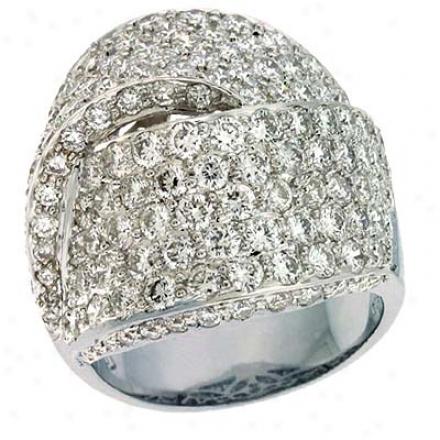 14k White Trendy 5.02 CtD iamond Ring