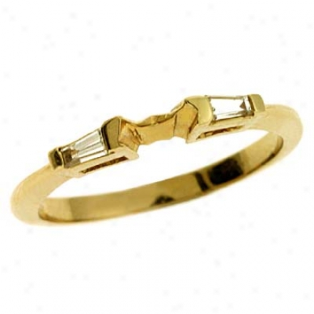 14k Yellow 0.16 Ct Diamond Band Ring