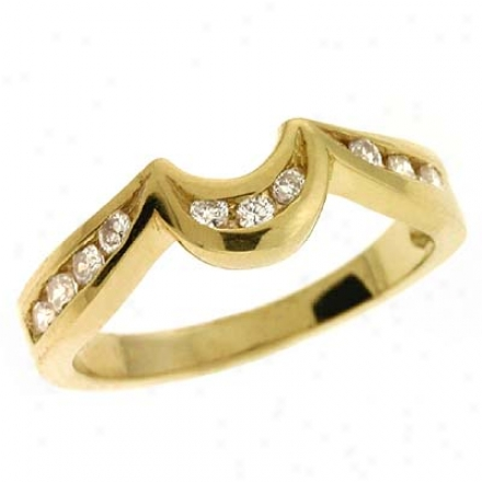 14k Yellow 0.23 Ct Diamond Band Ring