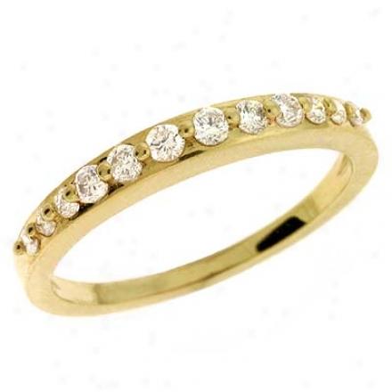 14k Golden 0.3 Ct Diamond Band Ring