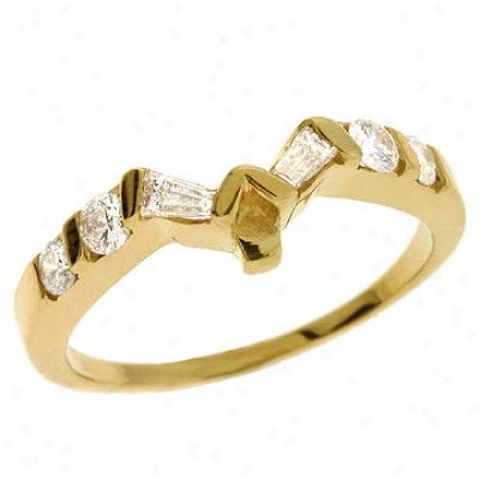 14k Yellow 0.39 Ct Diamond Band Rnig