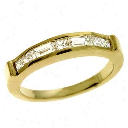 14k Yellow 0.665 Ct Diamond Band Ring