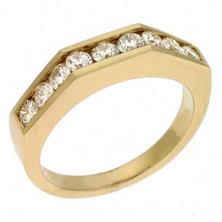 14k Yellow 0.69 Ct Diamond Band Ring