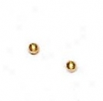 14k Yellow 2 Mm Childrens Balp Post Stud Earrings