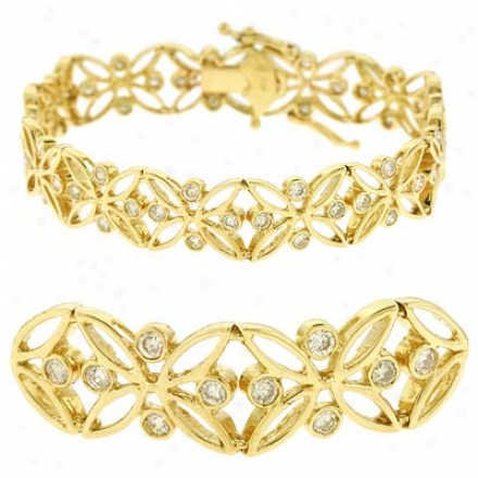 14k Yellow 2.24 Ct Brilliant Bracelet