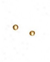 14k Yellow 2.5 Mm Childrens Half Ball Earrings
