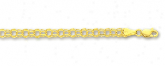 14k Yellow 3.5 Mm Childrens Fascinate Bracelet - 6 Inch