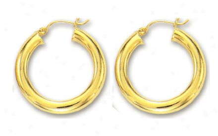14k Yellow 5 Mm Hoop Earrings