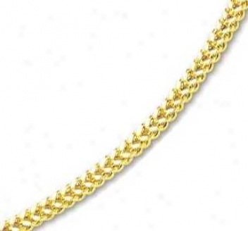 14k Yellow 5 Mm Mens Fancy Bold Franco Necklace - 26 Inch