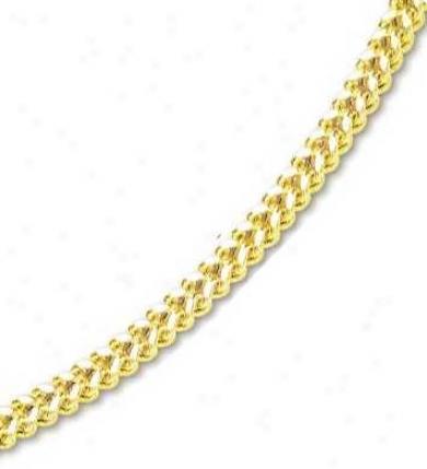 14k Yellow 6 Mm Mens Fancy Bold Franco Bracelet - 8.75 Inch