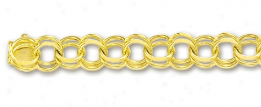 14m Yellow 7 Mm Charm Bracelet - 8 Inch