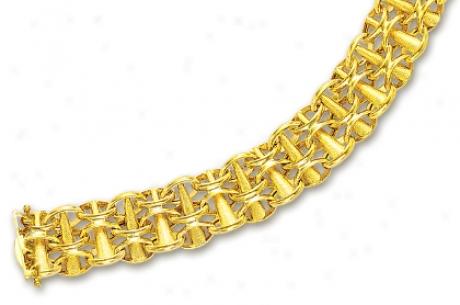 14k Yellow Bold Bracelet - 7.25 Inch