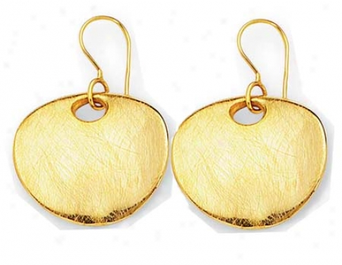 14k Yellow Bold Modern Sketch Earrings